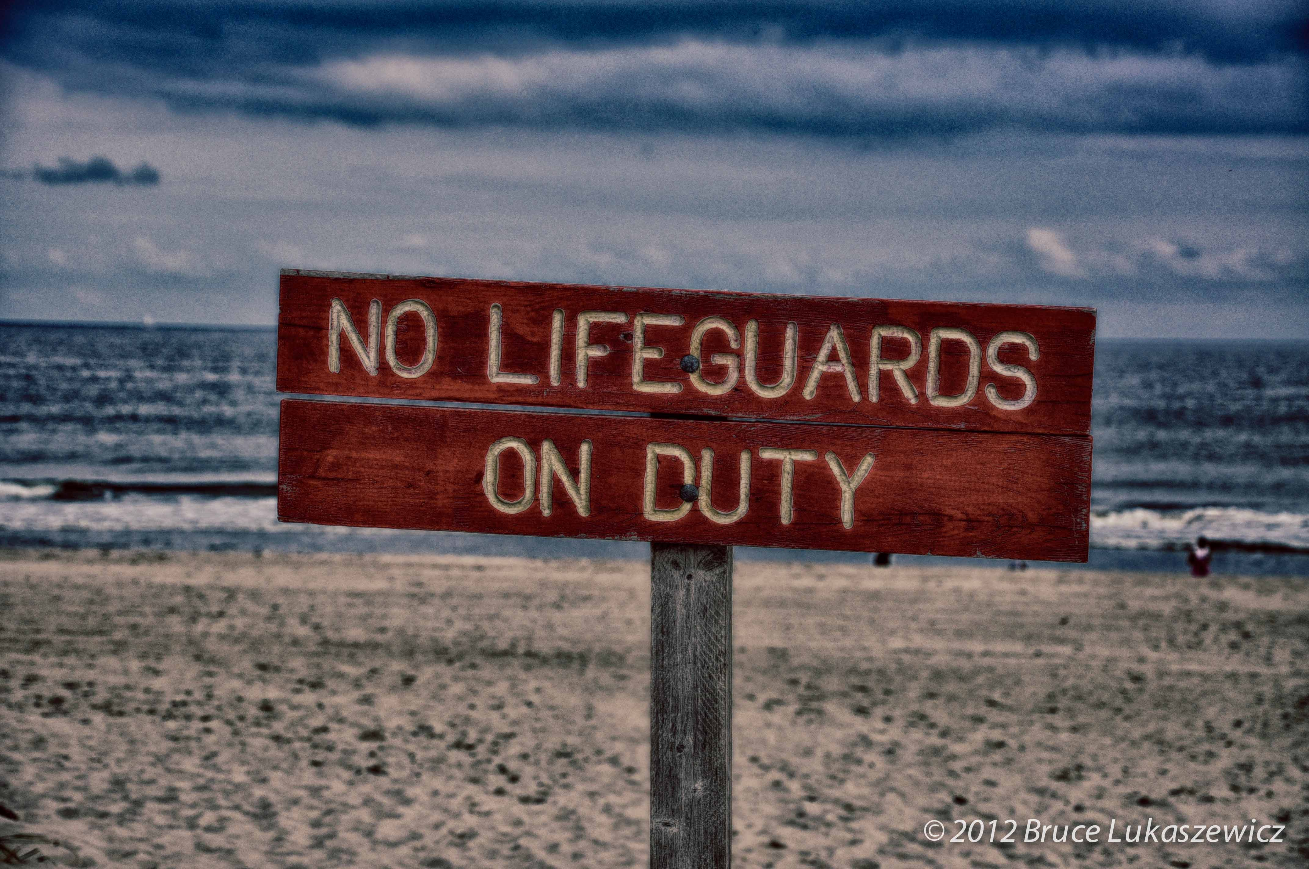 Just what the sign says... After Labor Day, before Memorial Day at most beaches in New Jersey.