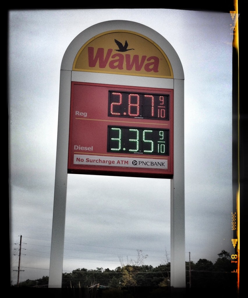 October 13, 2014 - Best price this year at Wawa in New Jersey.